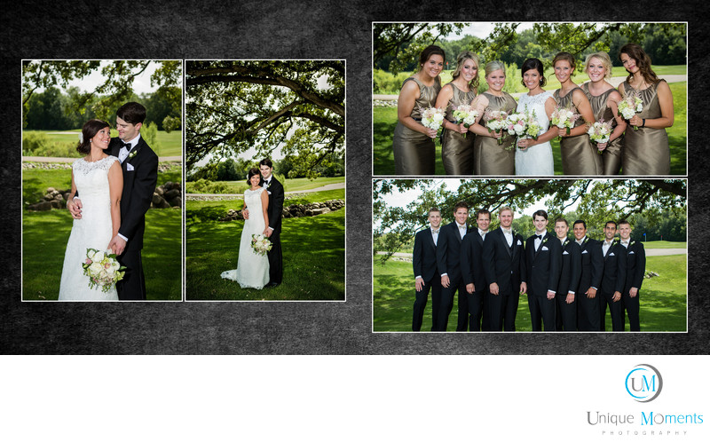 Tacoma Wedding Photographer Wedding Album spread 7 JP