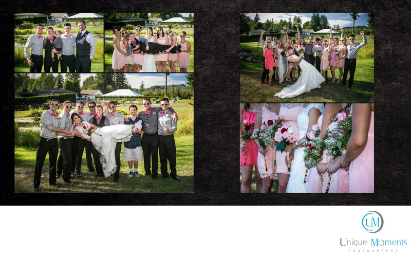 Unique Moments Photography wedding album design