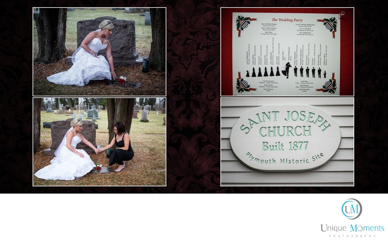 Gig Harbor photographer wedding Album sample spread 6