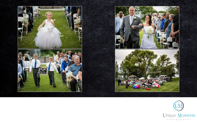 Gig Harbor wedding Photographer Album spread 11