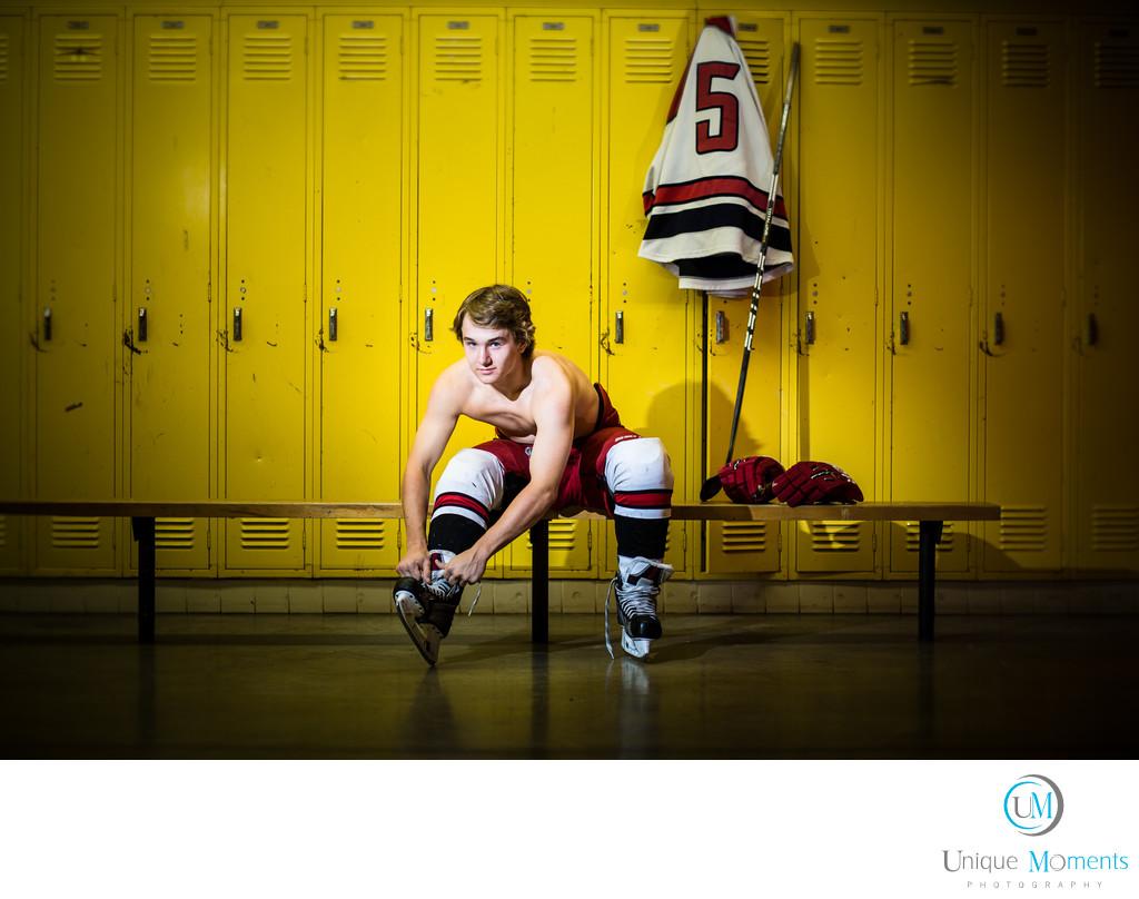 Gig Harbor High School Senior Portrait School locker room ...