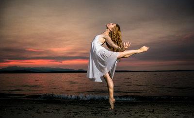 Alki Beach Ballerina Portrait Session