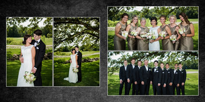 Tacoma Wedding Photographer Wedding Album spread 7 JP