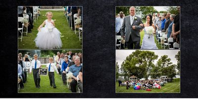 Gig Harbor wedding Photographer Album spread 11
