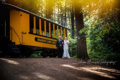 Roaring Camp Railroad Destination Wedding