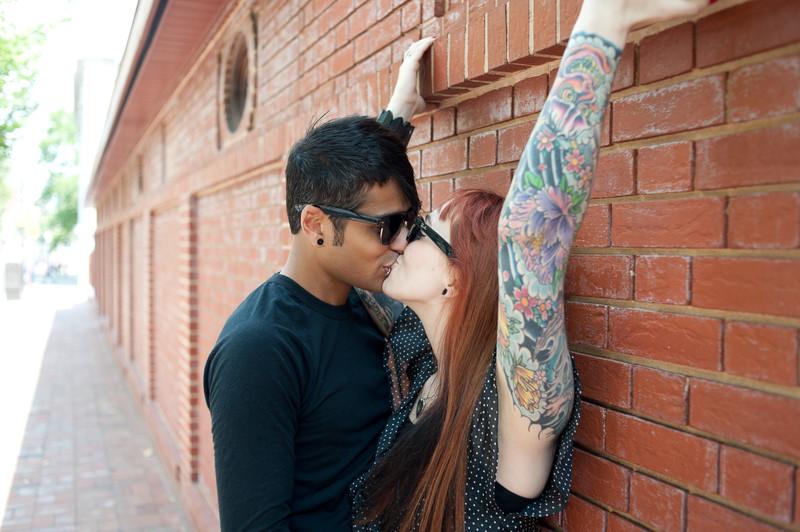 Tattooed Couple in Philadelphia Olde City