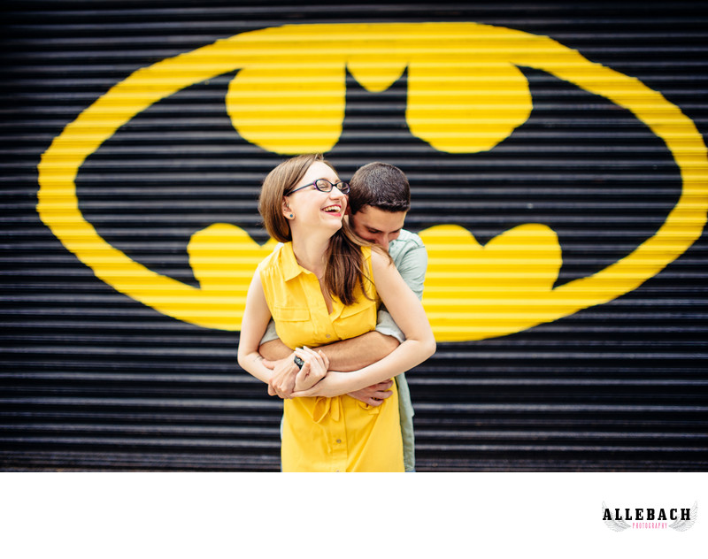 Batman Engagement Photo Ideas