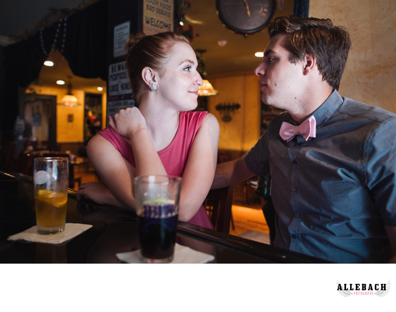 Engagement Pictures at Bar