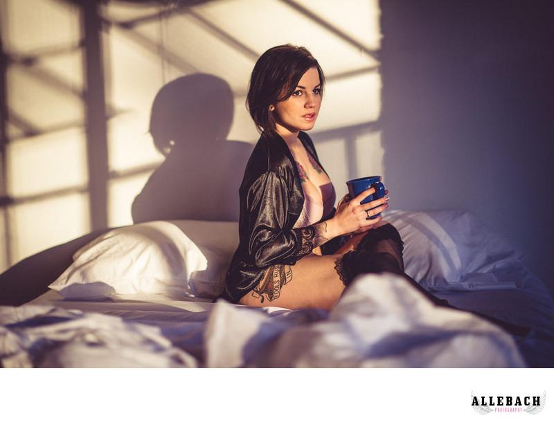 Morning Boudoir Photograpohy