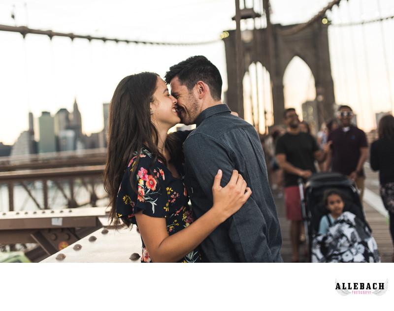 Brooklyn Bridge New York Engagement Photography