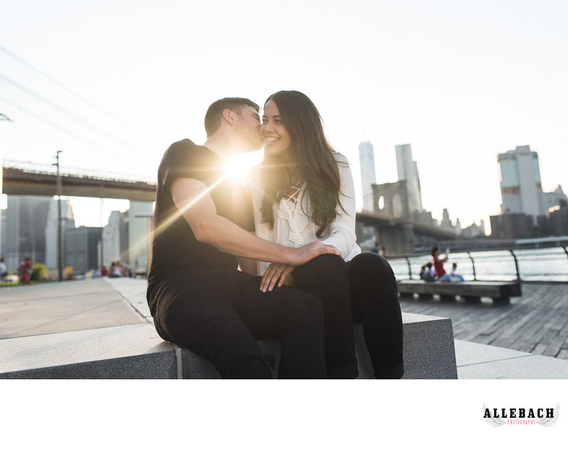 DUMBO Brooklyn Sunset Engagement Photography