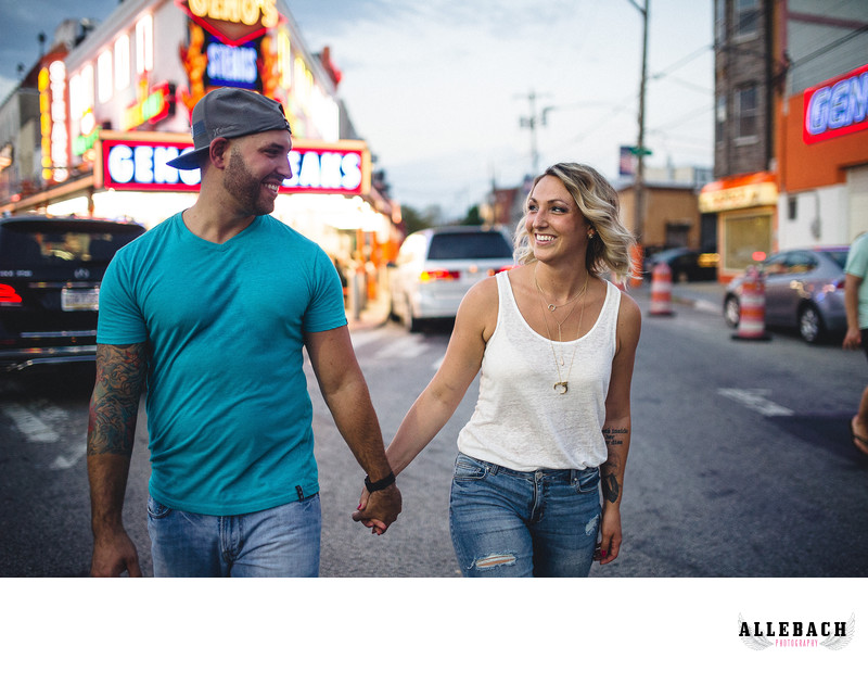 South Philly Geno's Engagement Photographer