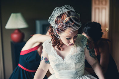 Tattooed Bride in Harrisburg Pa