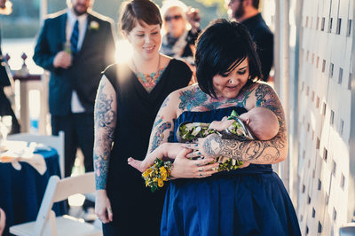 Tattooed Philly Wedding Boathouse Row Vesper Boat Club
