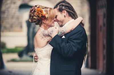 Tattooed Bride Tattooed Groom