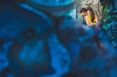 Magic Gardens Engagement Philly Pictures