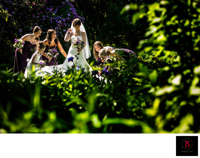 Bridemaids in the Garden