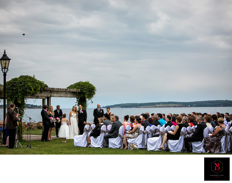 Culinary institute wedding beach ceremony