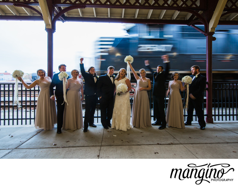 Bridal Party with The Train Depot in Hattiesburg