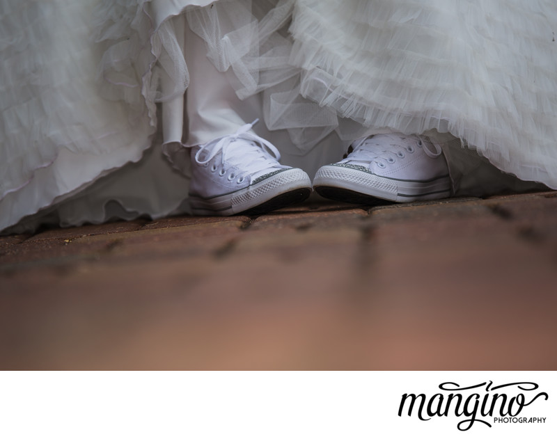 Converse and Crystals with Wedding Dress