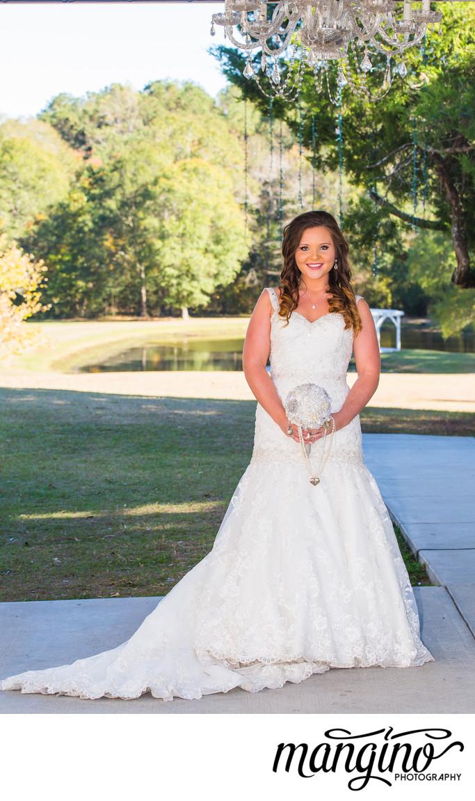 Trumpet Wedding Dress and Outdoor Chandelier