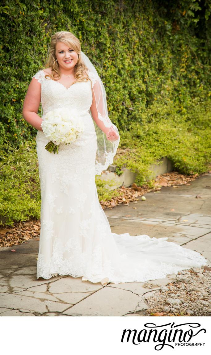 Glowing in Fingertip Wedding Veil in Hattiesburg, MS