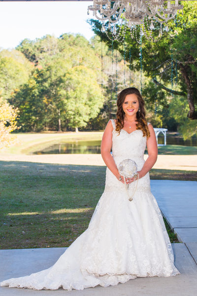 Trumpet Wedding Dress and Outdoor Chandelier