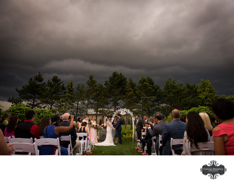 Ceremony Picture:  Storm Looming