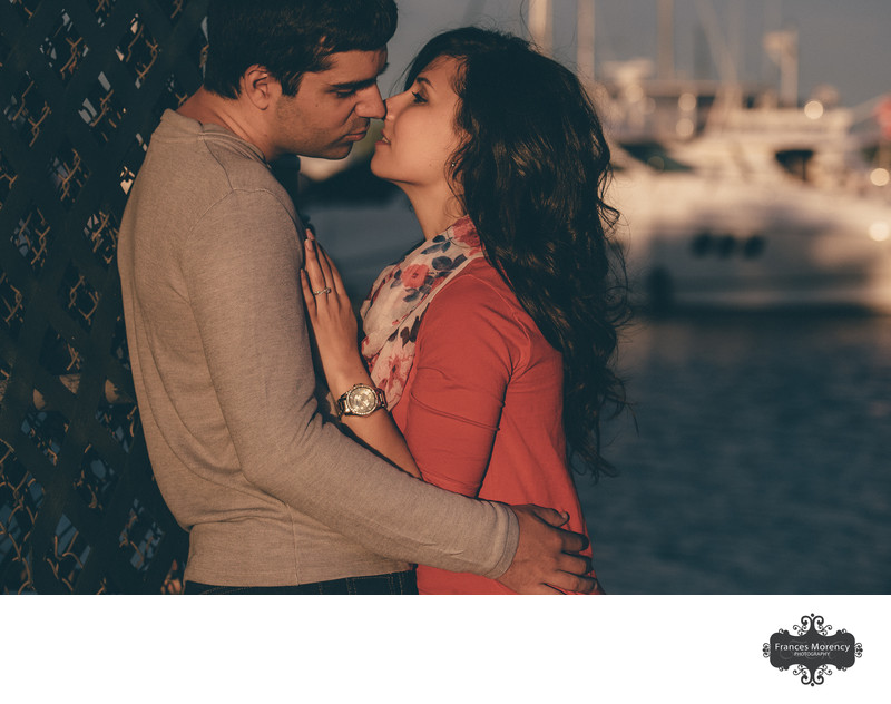 Meaford Marina Unposed Engagement Photography