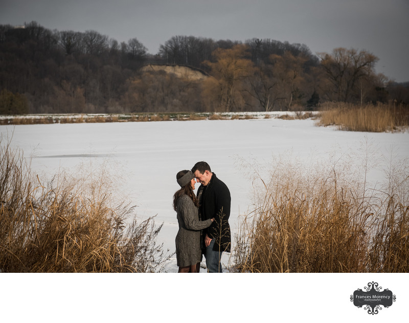 Alliston Engagement Photographer by the Pond