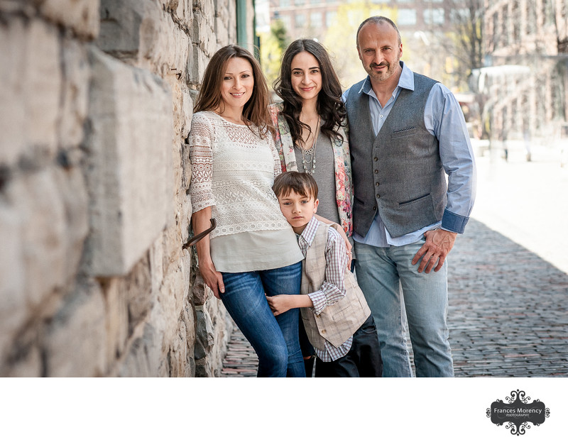 Family photography in downtown Collingwood
