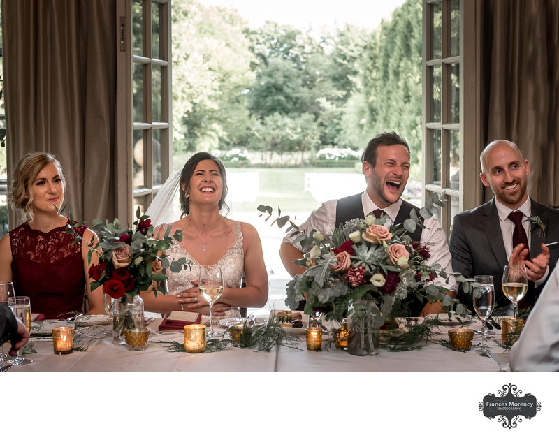 Speech Reactions at Graydon Hal Manor Wedding Reception