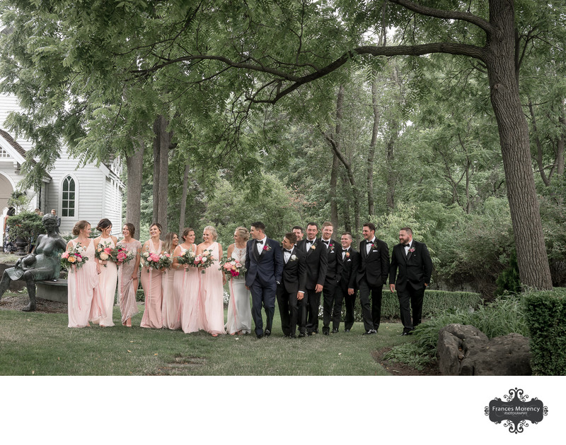 Kleinburg Doctors House Chapel Bridal Party Photography