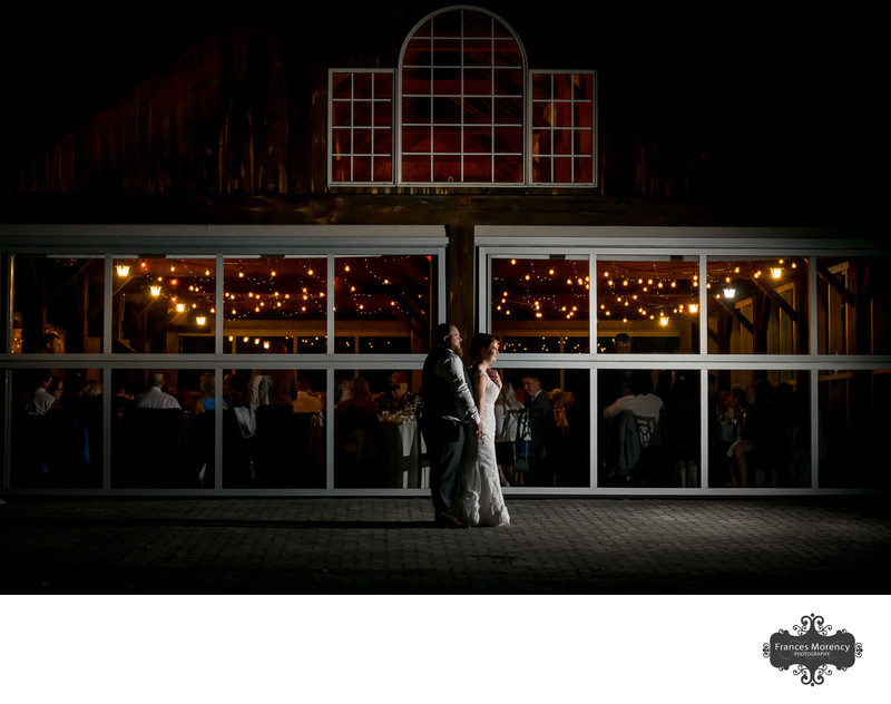 Night Photo at Pheasant Run Golf Wedding