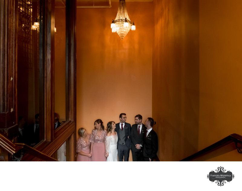 Gladstone Hotel Wedding Photo of Bridal Party Indoors