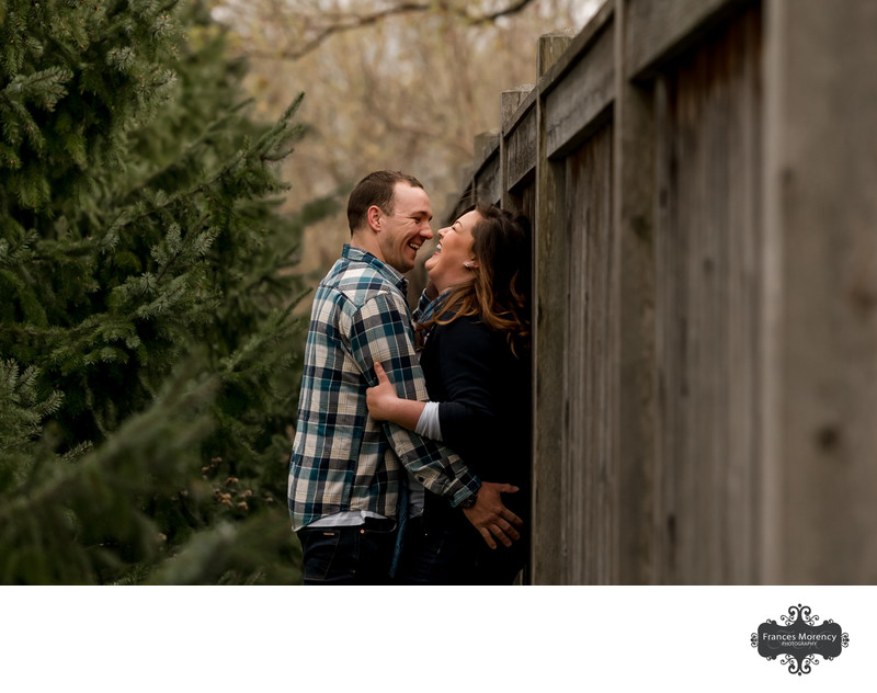 Alliston Engagement Photographer of Couple on Cloudy Day