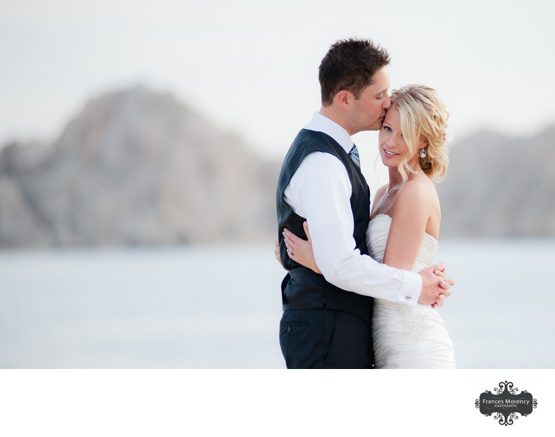 Lover's Cove Wedding Portrait in Cabo