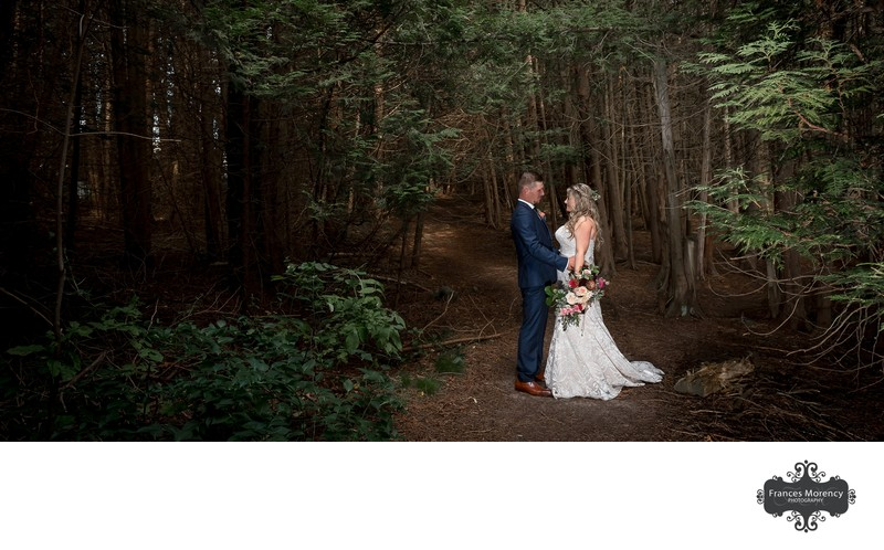 Wedding Pictures in Woods at The Millcroft Inn & Spa