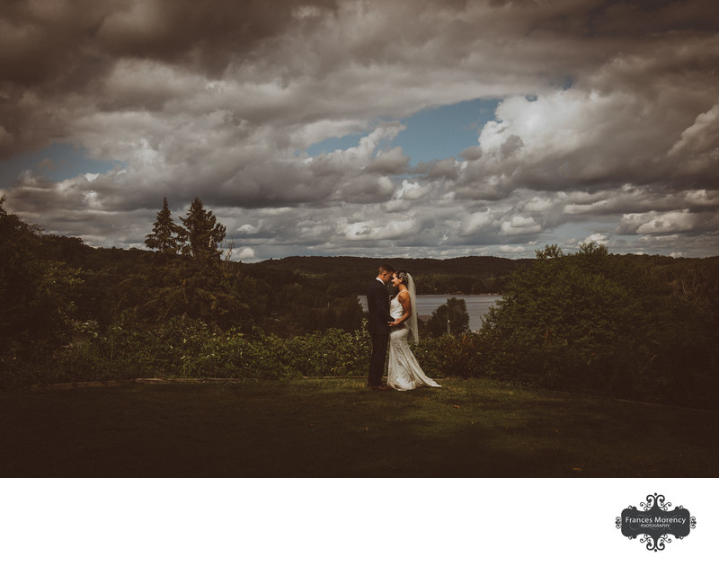 Wedding Portrait with View at Deerhurst Resort