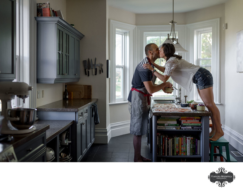 Caledon Engagement Photography in Kitchen