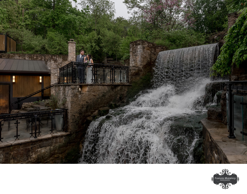Ancaster Mill Wedding Photo by Waterfall