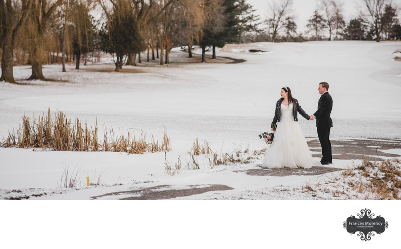 Winter Scene:  Glen Eagle Golf Wedding Photographer