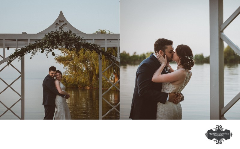 Bear Estate Wedding Portraits at Golden Hour