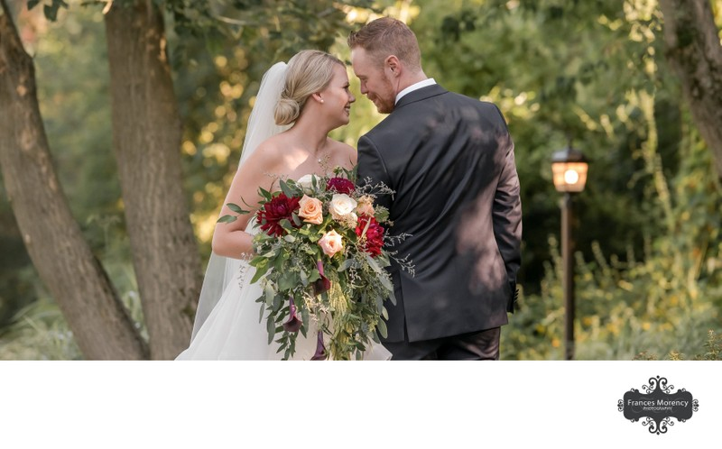 Villa Caledon Inn Wedding Portrait in Garden