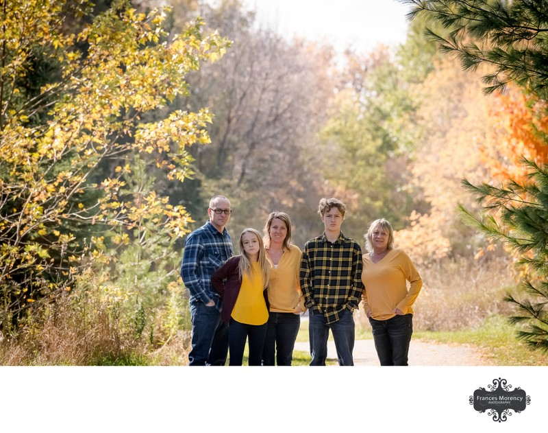 Family Wearing Yellow:  Caledon Family Photographer
