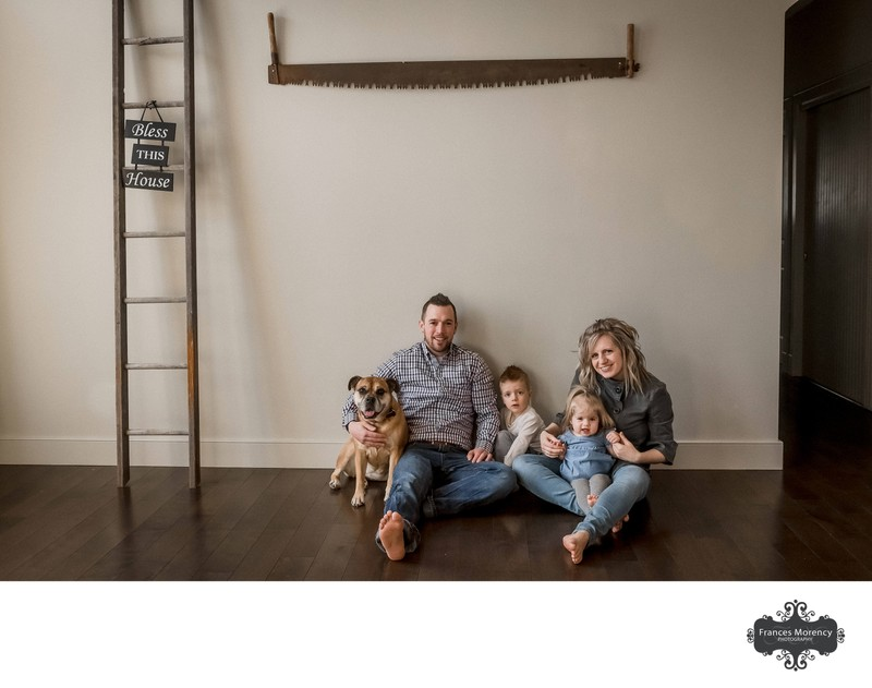 Lifestyle Family Photos in Home