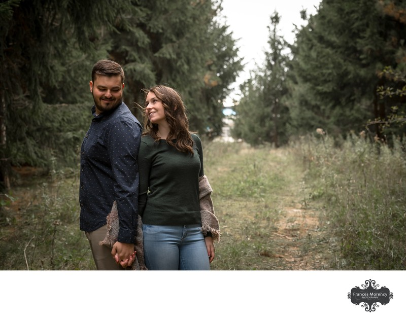 Island Engagement Photos in the Fall