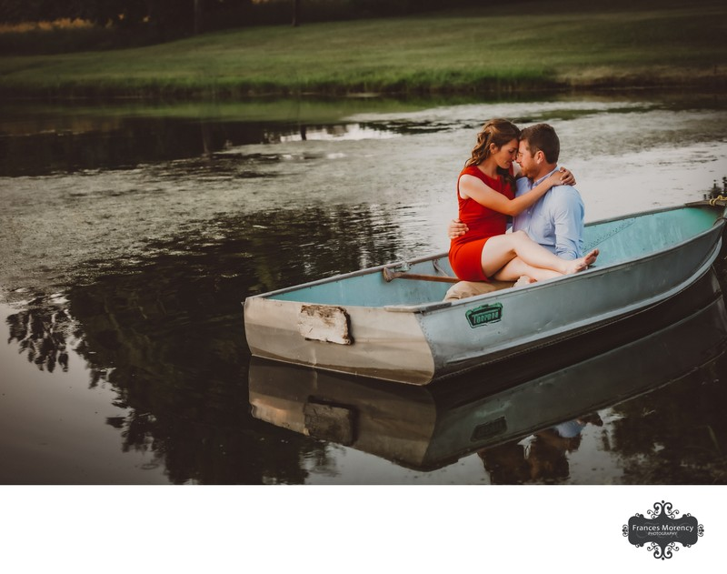 On Golden Pond:  Caledon Engagement Photographer