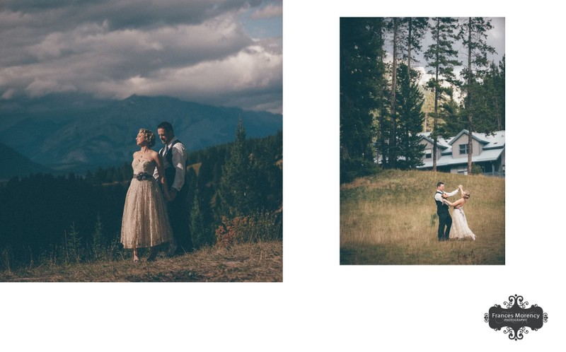 Bride Groom Portrait:  Canmore Destination Photographer