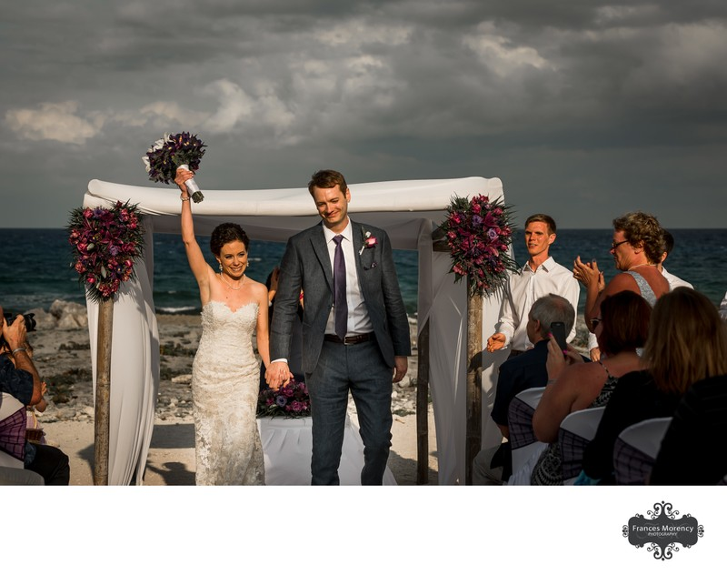Beach Wedding Ceremony:  Mexico Photographer
